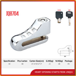 Silver Color Motorcycle Disk Lock with Keys pictures & photos