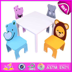 Colorful Cute Design Wooden Furniture Table and Kids Chair for Baby pictures & photos