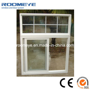 Hot Sale Tempered Glass PVC Sliding Window White Color pictures & photos