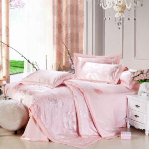 Pink Luxurious Bedding Set Quilt Covers