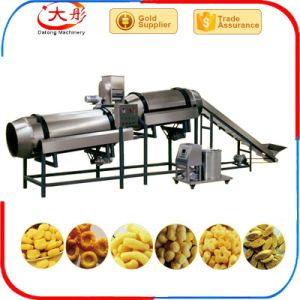 Roasted Extruded Puffed Rice Maize Corn Cheese Ball Machine pictures & photos