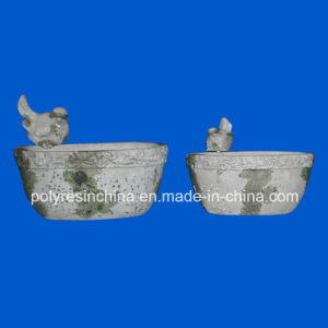 Polyresin Stoneware Planters with Birds pictures & photos