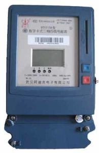 Three Phase Digital LED/ LCD Display Prepaid Electronic Energy Meter pictures & photos
