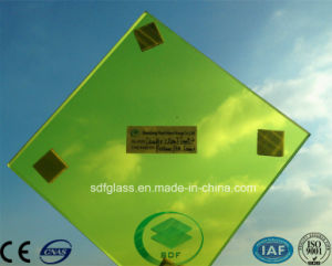 Yellow PVB Laminated Glass with CE, ISO