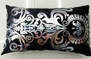 Metallic/Flock Printed Decorative Pillow Metallic Print Cushion (XPL-42) pictures & photos