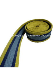 1-1/2′′ Yellow Blue Thicken Polyester Ribbon pictures & photos