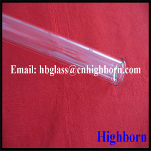 High Purity Clear Quartz Tube with Flange End pictures & photos