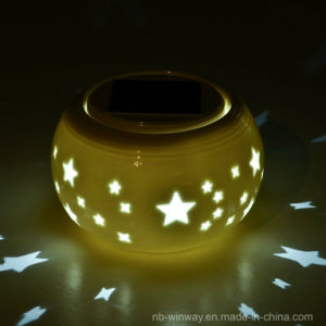 Solar Powered Table Ceramic Lantern pictures & photos