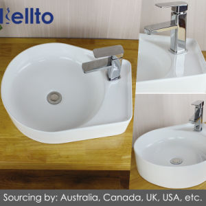 Wall hung Ceramic/Porcelain Wash Basin with Bathroom Accessories (3317C) pictures & photos