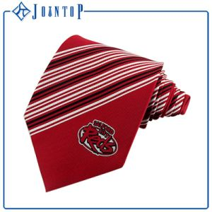 Woven Red Clip Necktie with Full Custom Logo pictures & photos