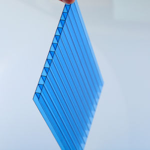 Twin Wall Hollow Polycarbonate Sheet Endurance Used in Engineering pictures & photos