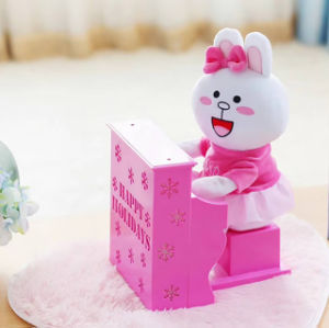 Plush Rabbit Palying Piano Musical Toy pictures & photos