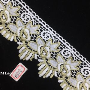 9.5cm Gold Lily Lace Trim for Festival, Wedding, Party, Birthday, Bridal, Shower Decoration Hme888 pictures & photos