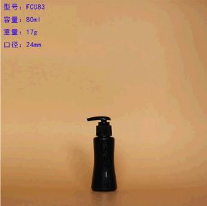 Colored Essential Oil Plastic Bottle with Plastic Emulsion Pump Transparent Cap pictures & photos