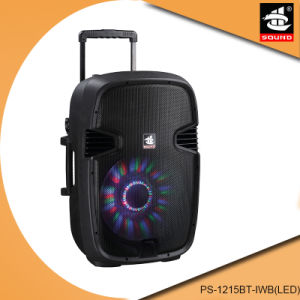 OEM Plastic Trolley Outdoor Battery Bluetooth MP3 Speaker PS-1215bt-Iwb (LED) pictures & photos