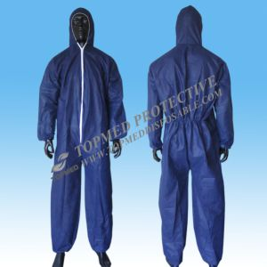 Comfortable Paper Coveralls, White Microporous Coverall, Chemical Coveralls pictures & photos