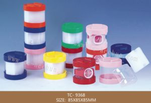 Cylindrical Upper and Lower Bottom Cover Display Watch Sponge Plastic Box pictures & photos