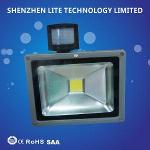 Factory Wholesale PIR 10W 30W 50W 70W LED Floodlight pictures & photos