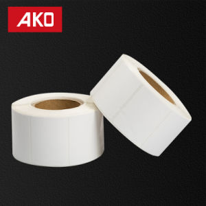 """1""""*2"""" (25.4mm*50.8mm) Semi Glossy Coated Paper/Hot Melt/Glassine Liner Self Adhesive Sticker Label pictures & photos"""