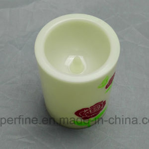Elegant Battery Energy Flameless Weeding Multicolor Plastic Rose Printed LED Candle pictures & photos