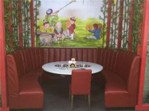 USA Standard U Shape Modern Restaurant Booth Foh-Ck22 pictures & photos