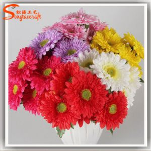 Seven Head Artificial Silk Chrysanthemum Flower for Home Decoration pictures & photos