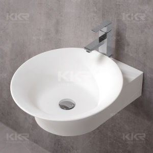 Acrylic Stone Pure White Wash Basin for Hotel pictures & photos