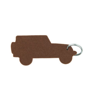 Multicoloured Car Shaped Polyester Felt Key Chain pictures & photos