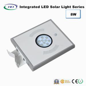 8W PIR Sensor Integrated LED Solar Garden Light pictures & photos