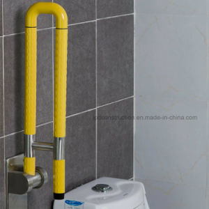 Toilet Bathroom Stainless Steel and Nylon Handicapped up-Folding Grab Bars pictures & photos