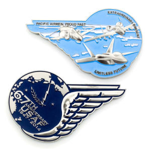 Promotion Gift 3D Enamel Air Force Police Coin pictures & photos