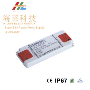 IP20 Super Slim Plastic Power Supply 20W pictures & photos