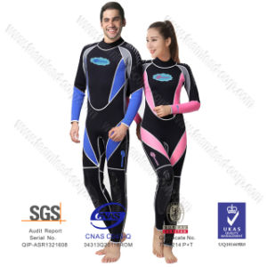 Wholesale Neoprene Surfing Suit Wetsuit Men and Women 3mm Full Suit Flatlock Stitching Jumpsuit with Super-Stretch pictures & photos