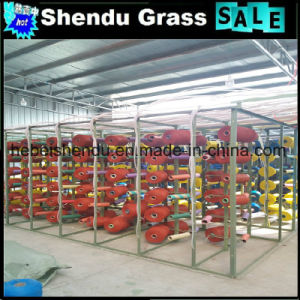 Soft Artificial Purple Grass for Indoor Balcony Floor pictures & photos