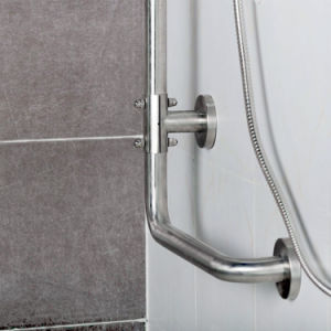 Stainless Steel L-Shape Grab Bars for Bathroom pictures & photos