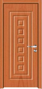 High Quality Popular Design MDF PVC Door (MDF PVC door) pictures & photos