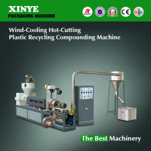 Wind-Cooling Hot-Cutting Plastic Recycling Compounding Machine, PE Recycling Machinery pictures & photos
