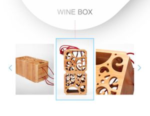 Delicate Leisure Retro Style Carbonized Bamboo Wine Gift Display Box pictures & photos