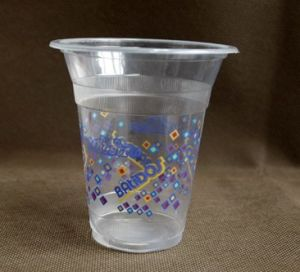 Disposable Printed Plastic Juice Cup pictures & photos