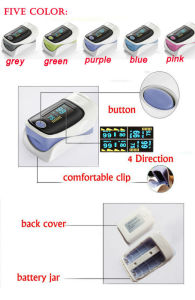 CE Approved Five Color Fingertip Pulse Oximeter (HK-80A) pictures & photos