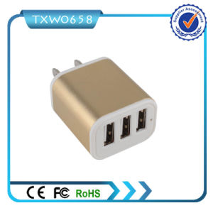 Popular Cheap Price 3 USB Ports EU Us USB Adapter pictures & photos