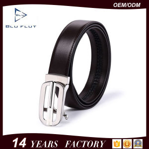 Customized Genuine Leather Metal Buckle Men′s Leather Dress Belts pictures & photos