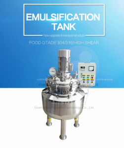 Staninless Steel Cosmetic Cream Vacuum Emulsifying Tank pictures & photos