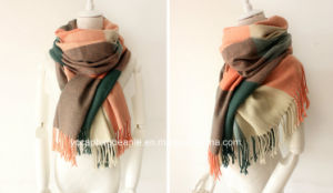 Women′s Fashion Grid Winter Warm Lattice Scarf pictures & photos