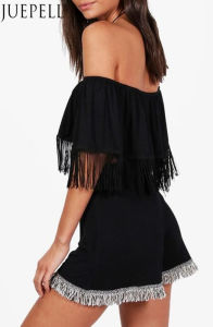 Fringed off Shoulder Beach Crop Top pictures & photos
