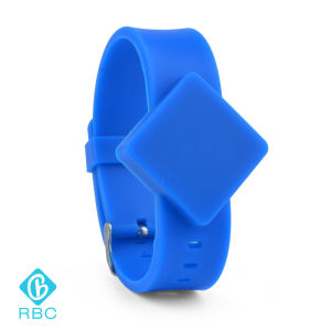 Square Watch Case Wholesale Silicone Wristband 125kHz ID Tracking