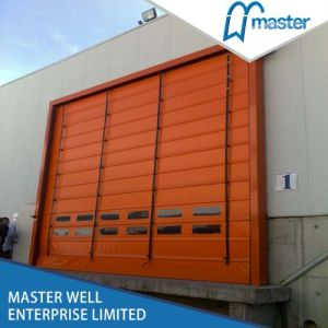 Automatic Stacking PVC Door with Strong Wind Resistance/PVC Stacking Door pictures & photos