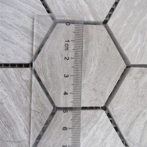 Mosaic Fooring Tile/Hexagon Mosaic Tile/Wood Grain Grey Mosaic Tile pictures & photos