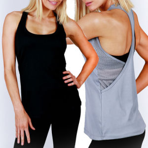 Womens Gym Mesh Poly Sports Tank Tee Singlet/Vest (A847) pictures & photos