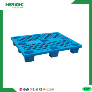 Warehouse Plastic Single Side Pallets with Nine Feet pictures & photos